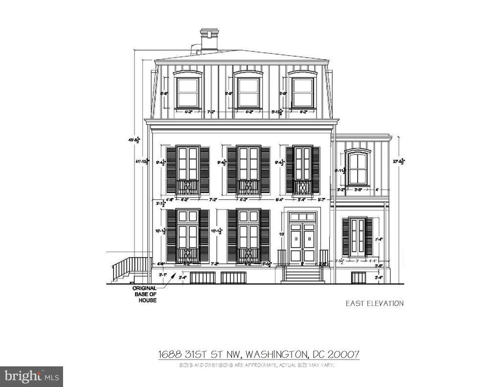 East Elevation - 1688 31ST ST NW, WASHINGTON