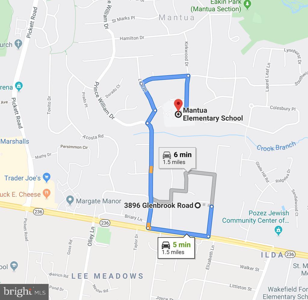 5 Minutes to Mantua Elementary School - 3896 GLENBROOK RD, FAIRFAX