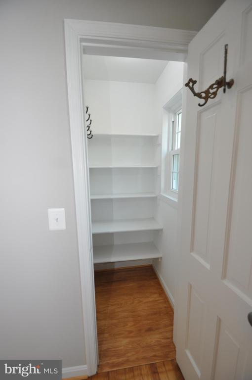 MASTER BR CLOSET WITH SHELVES & WINDOW - 10311 DETRICK AVE, KENSINGTON