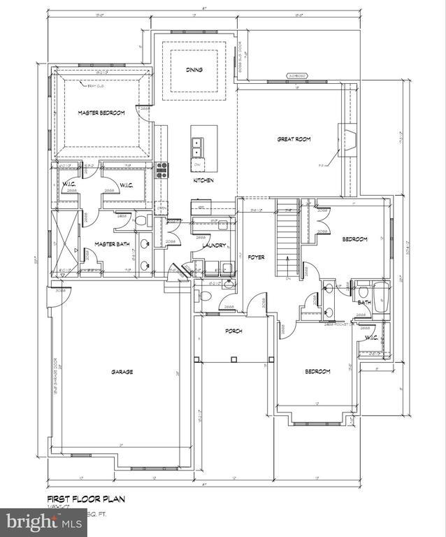 First floor plan - 14204-A HARRISVILLE RD #1, MOUNT AIRY
