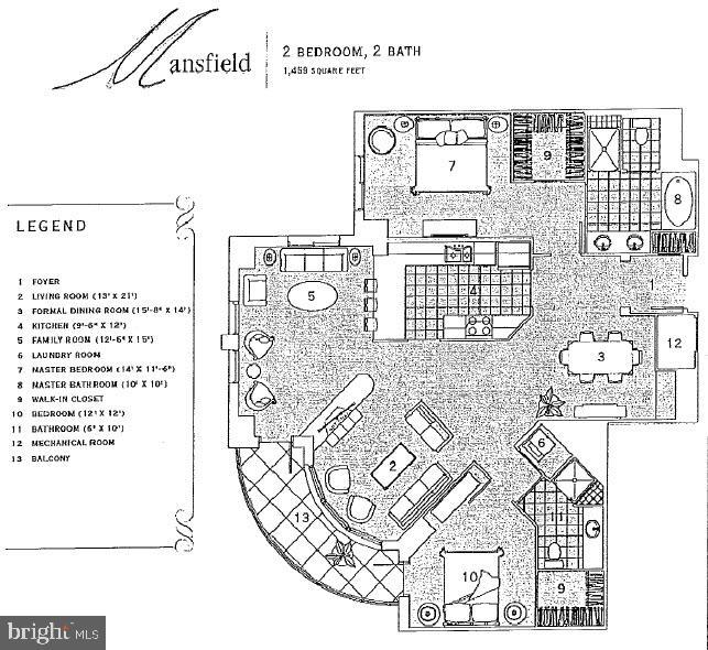 Floor Plan - 11990 MARKET ST #413, RESTON