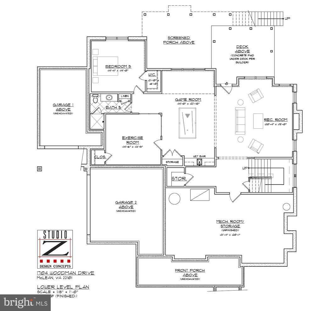 Lower level: 1,672 sq. ft. - 1704 WOODMAN DR, MCLEAN