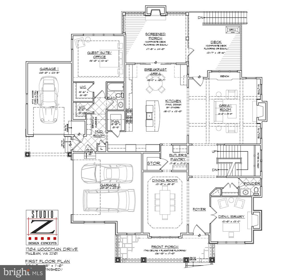 Main level: 2,287 sq. ft. - 1704 WOODMAN DR, MCLEAN