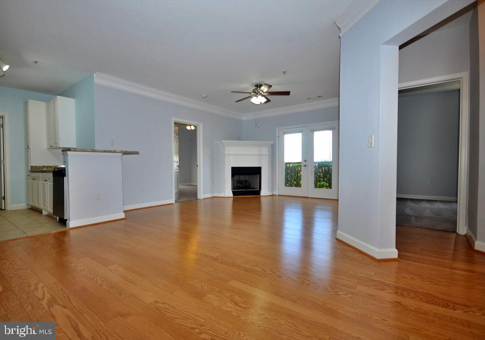 View from dining area to fireplace - 501 HUNGERFORD DR #P77, ROCKVILLE