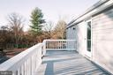 Side deck to large patio - 39006 LIME KILN RD, LEESBURG