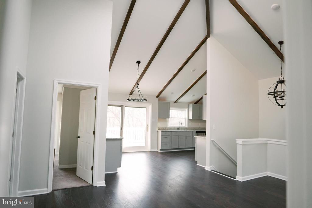 View into kitchen area - 39006 LIME KILN RD, LEESBURG