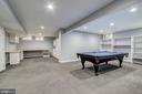 Lower Level  Billiard Room - 12020 BLACKBERRY TER, NORTH POTOMAC