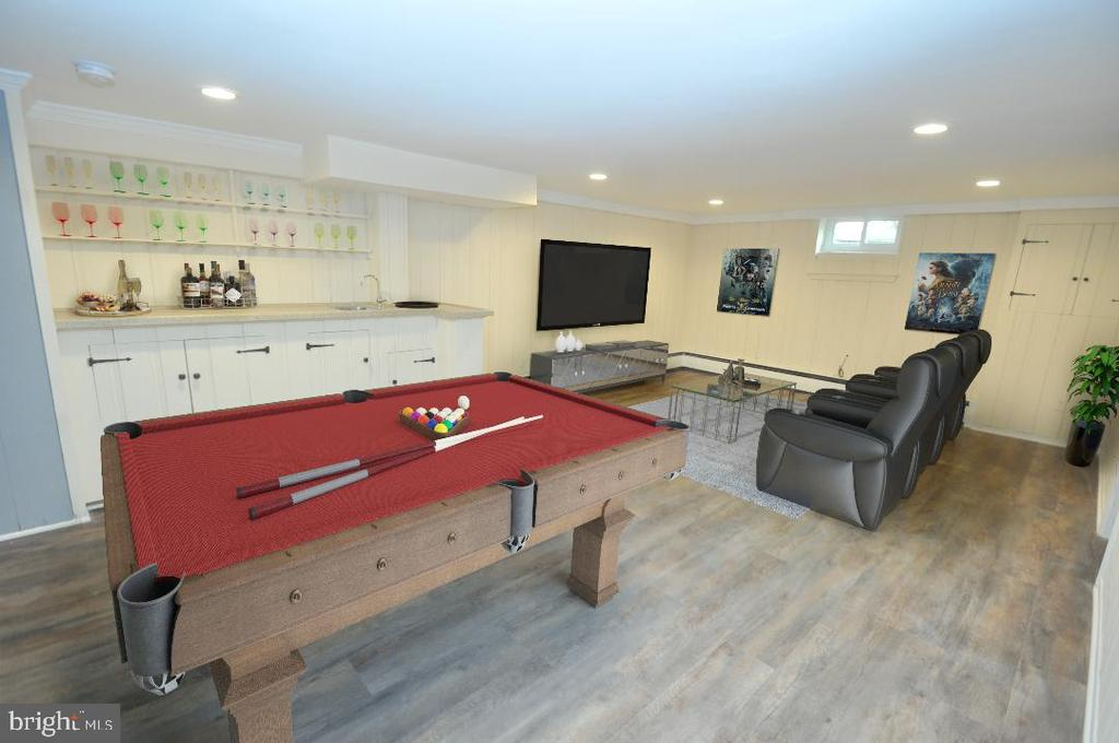 REC ROOM w/ POOL TABLE & MEDIA AREA - 10311 DETRICK AVE, KENSINGTON