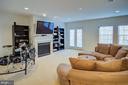 Lower level fireplace - 18918 CANOE LANDING CT, LEESBURG