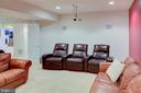 Lower level media room - 18918 CANOE LANDING CT, LEESBURG
