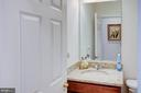 Lower level powder room - 18918 CANOE LANDING CT, LEESBURG