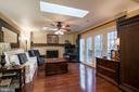 Beautiful hardwood floors in Family room - 11123 CLARA BARTON DR, FAIRFAX STATION