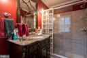 Master Bathroom has walk-in shower w.bench - 11123 CLARA BARTON DR, FAIRFAX STATION