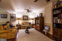 Rec Room in basement has hardwood floors - 11123 CLARA BARTON DR, FAIRFAX STATION