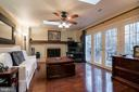 Family room has french doors to large deck - 11123 CLARA BARTON DR, FAIRFAX STATION