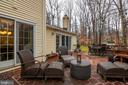 large deck off the Family Room - 11123 CLARA BARTON DR, FAIRFAX STATION