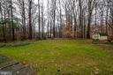Large yard with shed - 11123 CLARA BARTON DR, FAIRFAX STATION