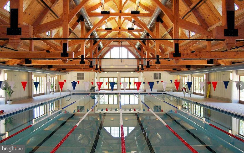 Community indoor pool - 18918 CANOE LANDING CT, LEESBURG