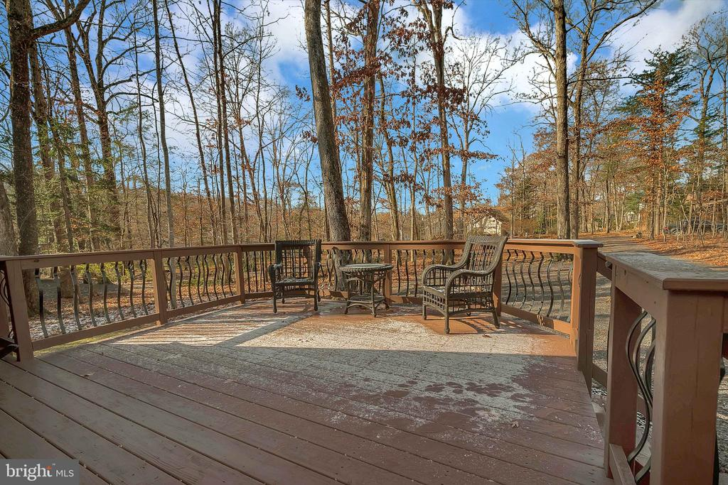 deck with a view - 224 CREEKSIDE DR, LOCUST GROVE