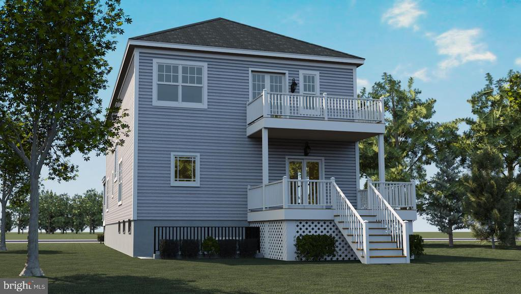 Lower deck optional, Rendering, Actual May Vary - 6450 HOLYOKE DR, ANNANDALE