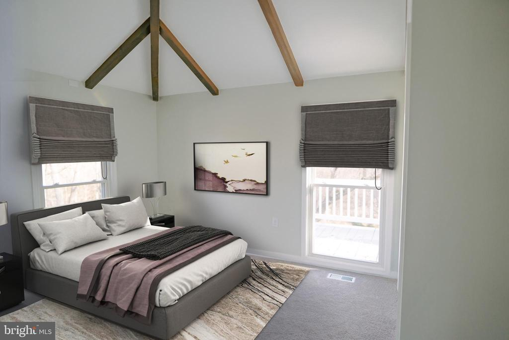Virtual rendering of bedroom 2 - 39006 LIME KILN RD, LEESBURG