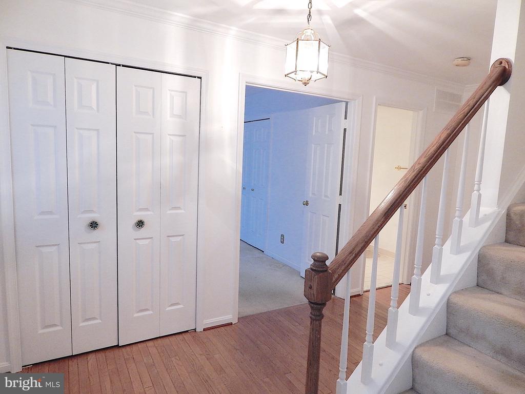 Foyer with double coat closet - 6205 PROSPECT ST, FREDERICKSBURG