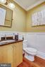 Main Level Half Bath with Wainscot - 1324 FAIRMONT ST NW #B, WASHINGTON