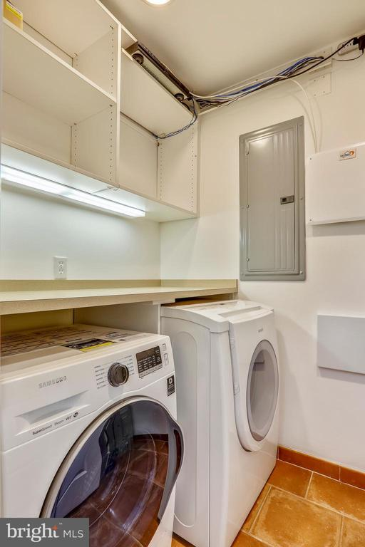 Laundry Room with Folding Table - 1324 FAIRMONT ST NW #B, WASHINGTON