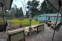 VIEW OF PATIO LOOKING ON TO BACK YARD! - 10311 DETRICK AVE, KENSINGTON