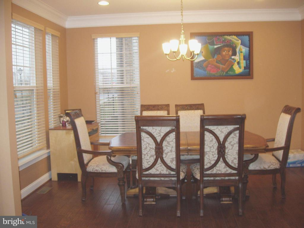 BANQUET SIZED DINING ROOM- HARDWOOD FLOORS - 13501 WINDY MEADOW LN, SILVER SPRING