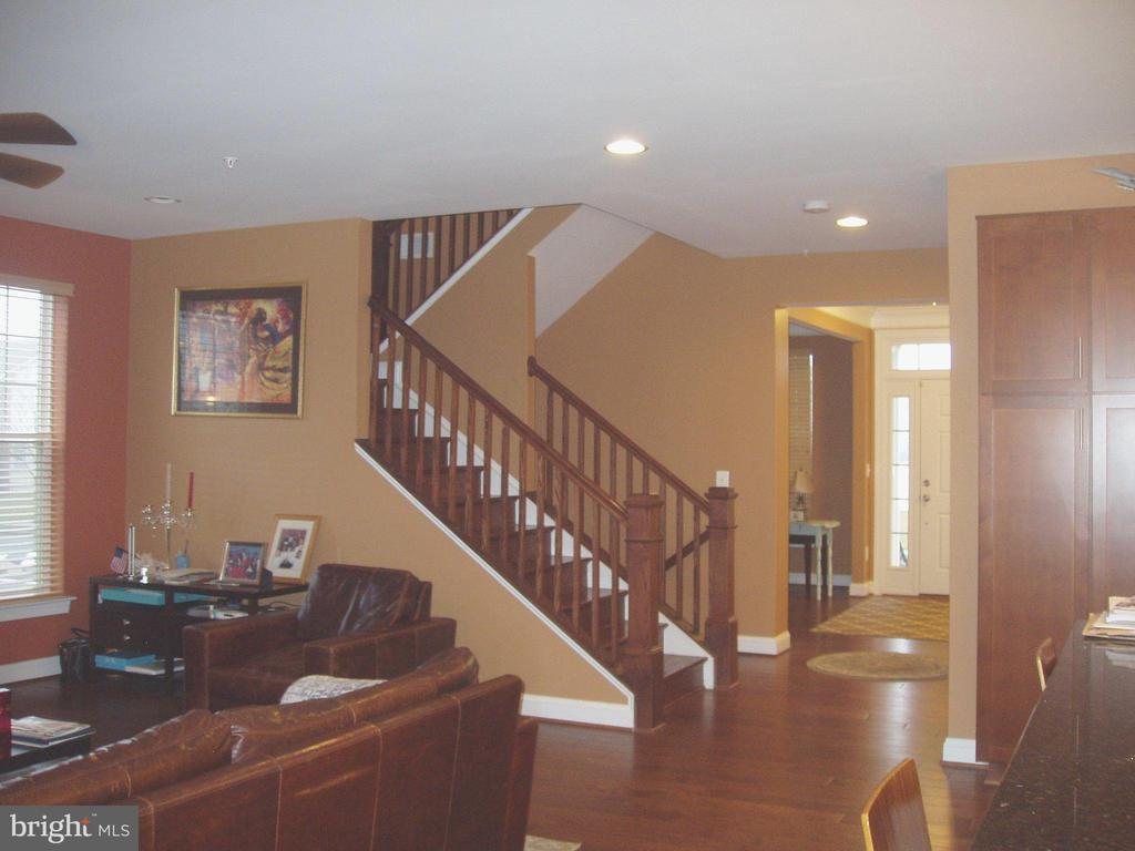 VIEW OF CURVED  STAIRCASE - HARDWOOD FLOORS - 13501 WINDY MEADOW LN, SILVER SPRING