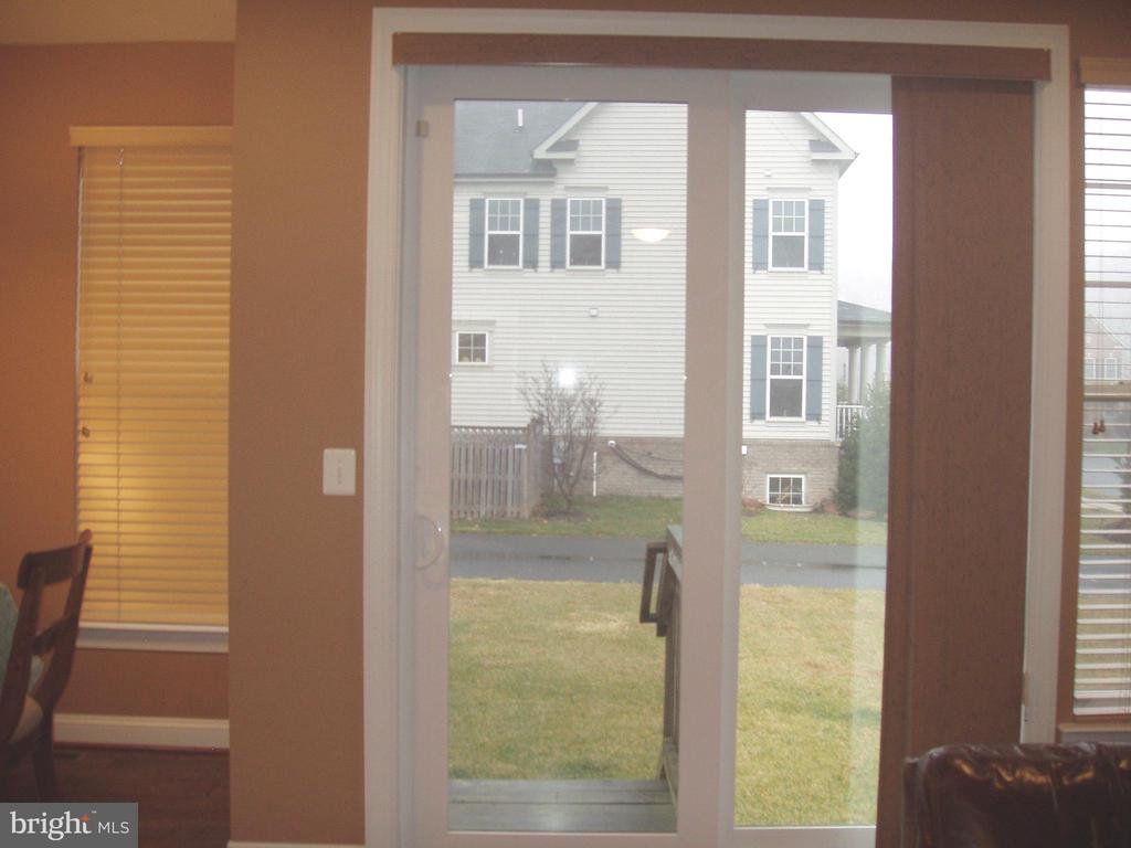 SLIDING GLASS DOOR FROM FAMILY ROOM TO BACKYARD - 13501 WINDY MEADOW LN, SILVER SPRING