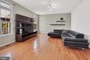 Roomy, light-filled family room - 9865 NOTTING HILL DR, FREDERICK