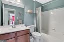 2nd upper level bathroom - 9865 NOTTING HILL DR, FREDERICK