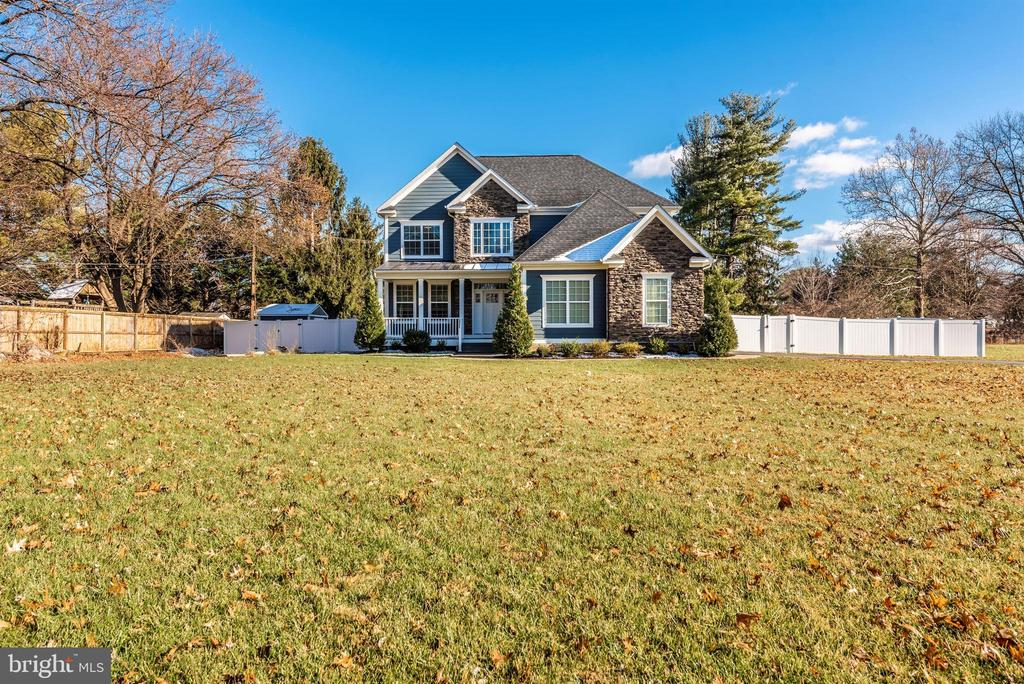 The front yard is vast! - 7937 YELLOW SPRINGS RD, FREDERICK