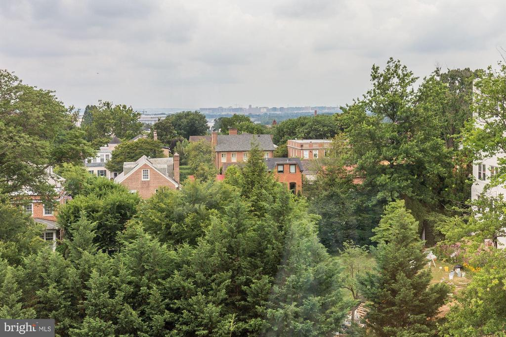 View from top floor balcony - 3052 R ST NW #307, WASHINGTON
