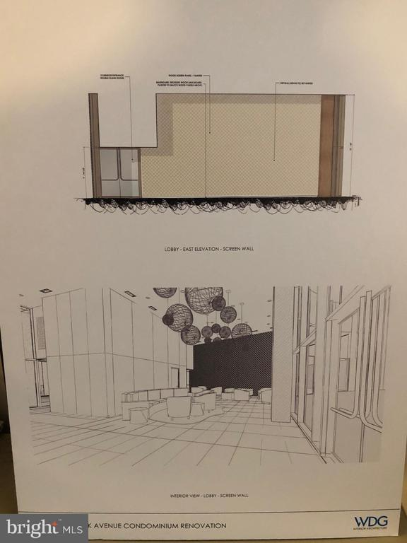 Current entrance & lobby renovations happening - 4620 N PARK AVE #1109E, CHEVY CHASE