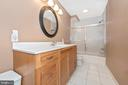 Lower Level Full Bathroom - 8400 RIVER MEADOW DR, FREDERICK