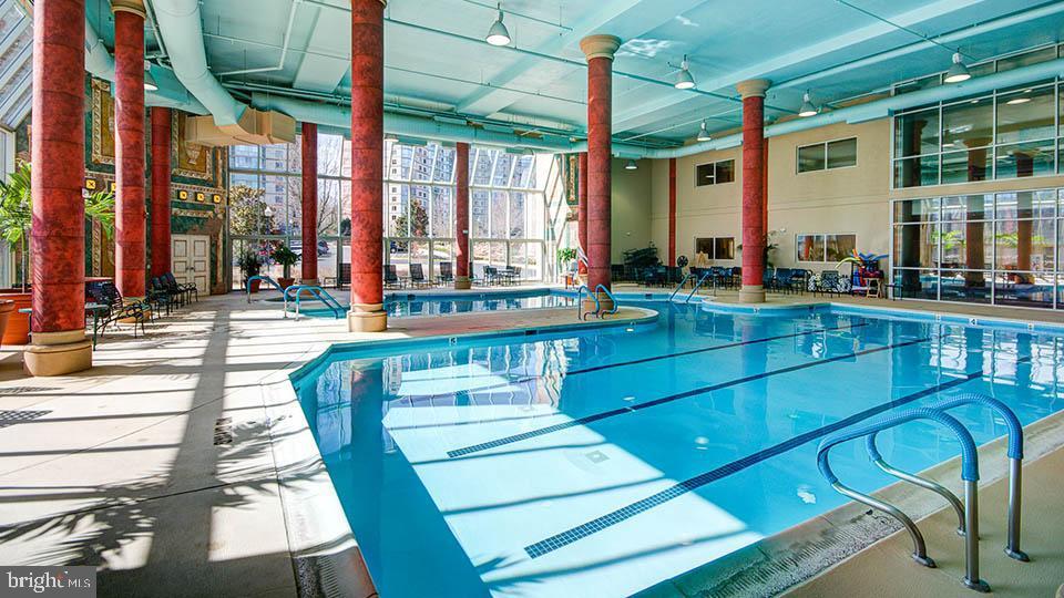 Indoor pool open all year round. - 19375 CYPRESS RIDGE TER #822, LEESBURG