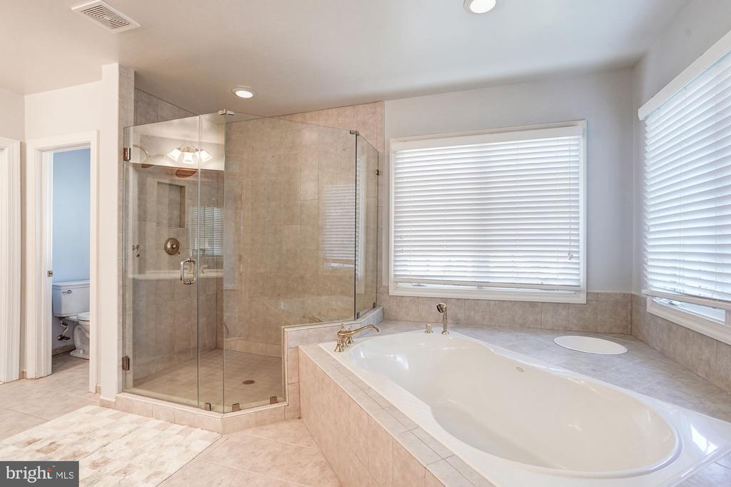 Master Bath with soaking tub and Dual Shower - 1553 SHELFORD CT, VIENNA