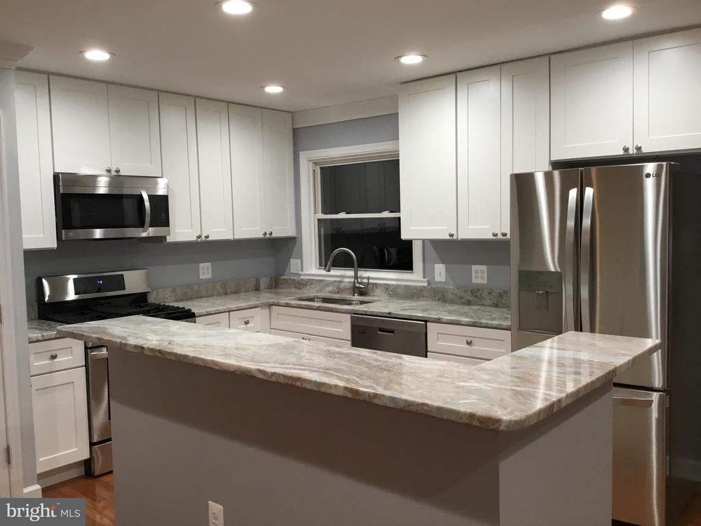 Modern color coordinated kitchen - 652 ALABAMA DR, HERNDON