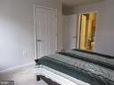 Master bedroom on 2nd level with bath and balcony - 1308 CLIFTON ST NW #401, WASHINGTON