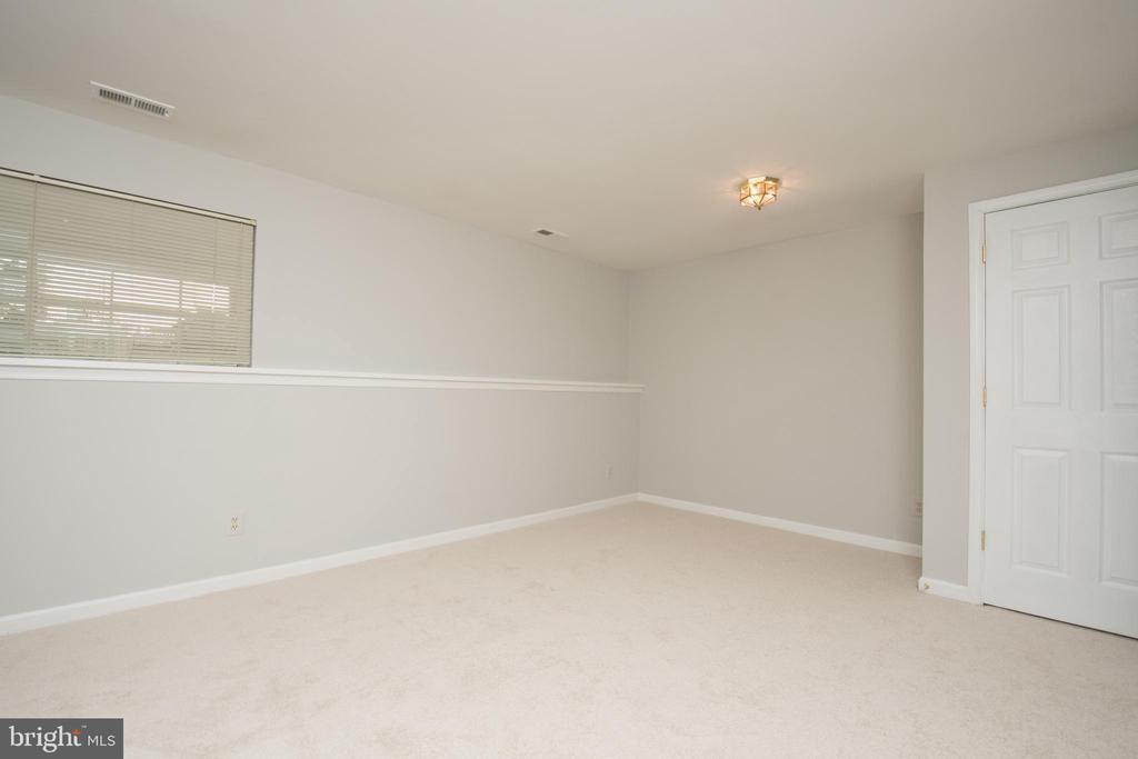 Finished basement with new carpet - 512 GINGER SQ NE, LEESBURG