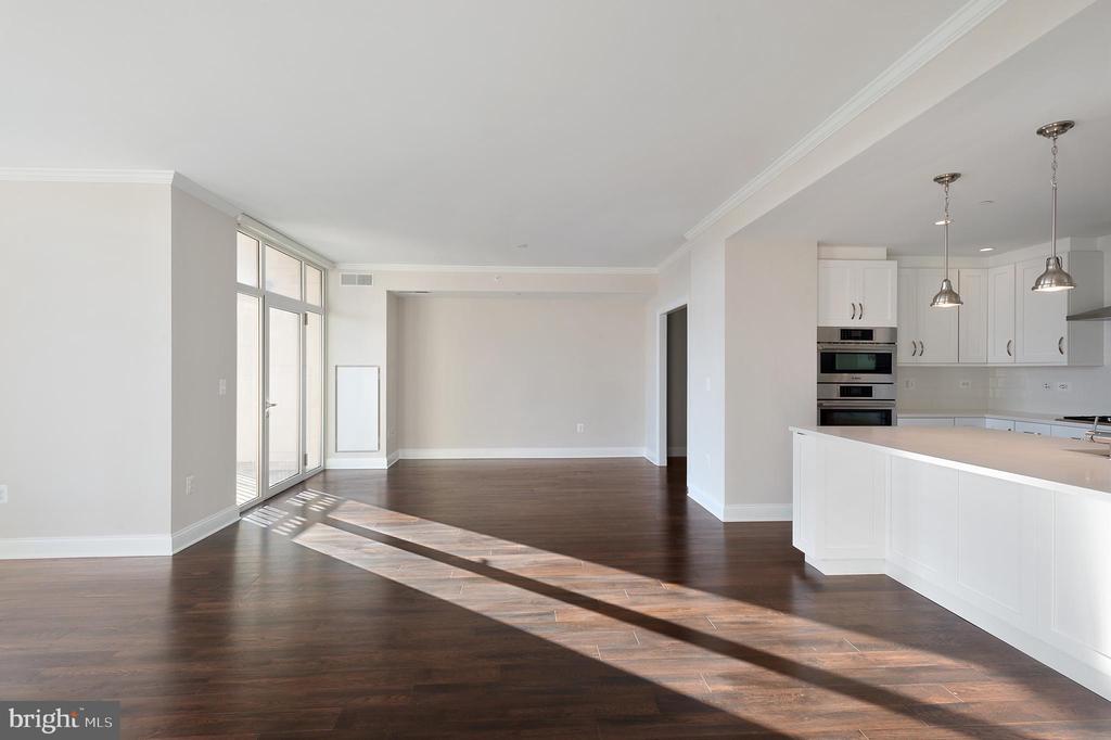 open Living/Dining/Kitchen - 4915 HAMPDEN LN #603, BETHESDA