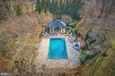 Aerial View of Pool - 16717 WHIRLAWAY CT, LEESBURG