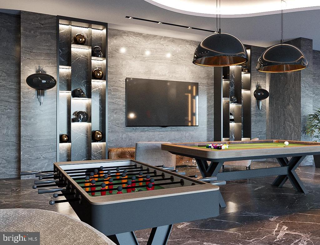 Billiards / Game Room - Rendering - 1171 CHAIN BRIDGE RD, MCLEAN