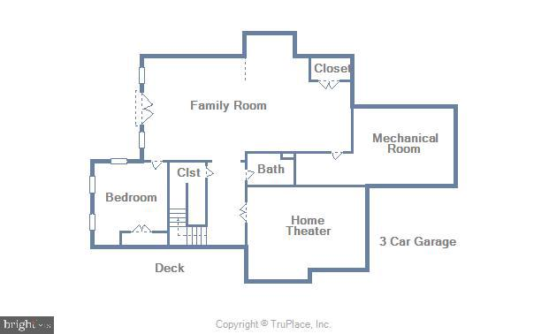 Lower Level Floor Plan - 7306 GORDONS RD, FALLS CHURCH