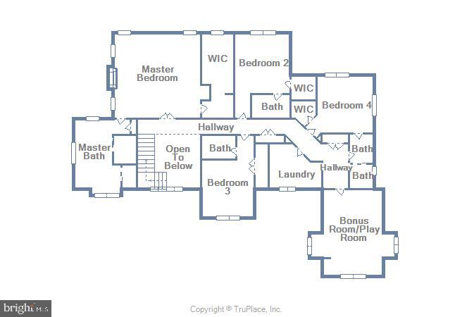 Upper Level Floor Plan - 7306 GORDONS RD, FALLS CHURCH