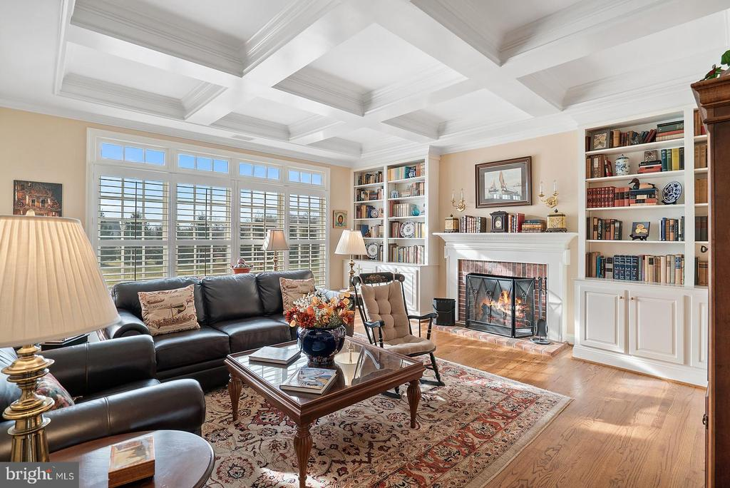 Family room. Built ins and wood burning fireplace - 37239 HUNT VALLEY LN, PURCELLVILLE