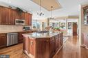 Newer SS appliances and kitchen island. - 37239 HUNT VALLEY LN, PURCELLVILLE
